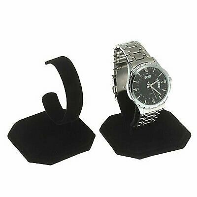 3 Black Velvet Watch Jewelry Bracelet Display Stands