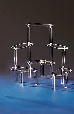 "6 Tier Acrylic Display Stairs Riser - Size: 3"" x 6"" x 10 1/4"" H Oval Platform..."