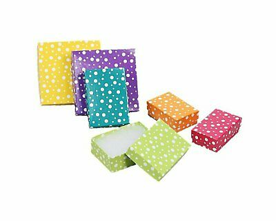 888 Display USA - Multi Color Polka Dot Jewelry Gift Packaging Cotton Filled ...