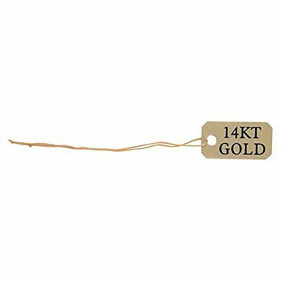 300 Gold Silver White Kraft String Price Tags Jewelry Ring Sale Display Label...