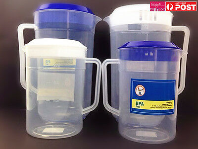 4 pcs Plastic Water Jug Set with Lid 2.5L and 1L Water Pitcher For Fridge