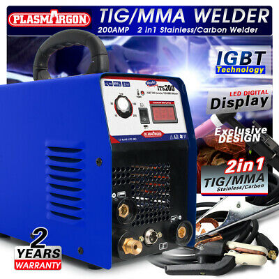 TIG/MMA Welder 2in1 Stainless/Carbon Steel welding machine & Tig torch 110/220V