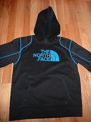 The North Face Boy's Hoodie Pullover Black Blue Stitching M Med 10 / 12
