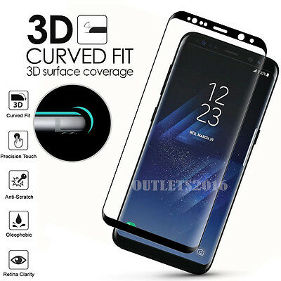 Full Cover Tempered Glass Screen Protector F Samsung Galaxy S8 S9 Plus Note 9 S7