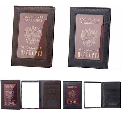 Fashion Passport ID Card Document PVC Cover Case Holder Travel Protector Witty