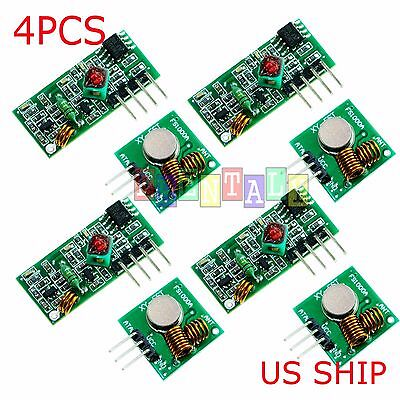 4X 433Mhz RF Transmitter and Receiver Module link kit for Arduino - USA seller