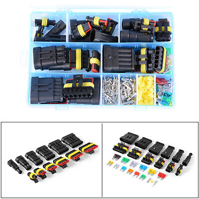 Car SUV Waterproof 1-6 Pin Electrical Connector Terminal + Mini Blade Fuse W/Box
