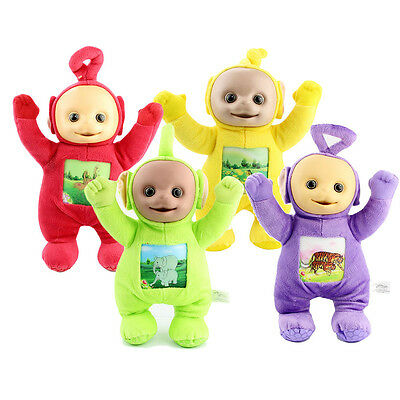 Set Of 4 Teletubbies Soft Toys 33cm Tall DipsyY Laa LaaPo Tinky Winky Plush Gift