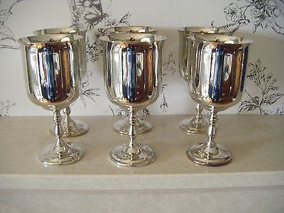 Vintage Oneida Silver Plated? Drinking/Wine Goblets - Set of 6