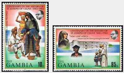 Timbres Religion Gambie 462/3 ** lot 19703