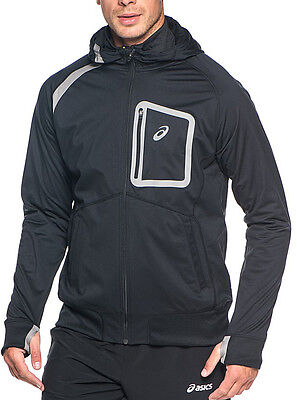 Asics Performance Hooded Mens Running Top - Black
