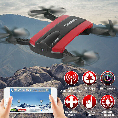 JXD 523W Altitude Hold WIFI FPV RC Quadcopter HD Camera Drone Selfie Foldable US