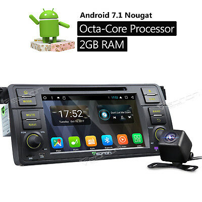 Rear Camera Android 6.0 Car DVD Player Radio Stereo GPS Navigation F For BMW E46