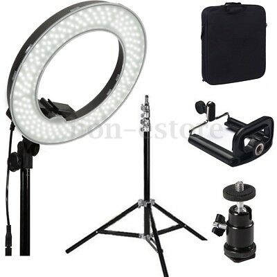 14''5500K Dimmable Diva LED Ring Light For Video Photo With Diffuser Light Stand