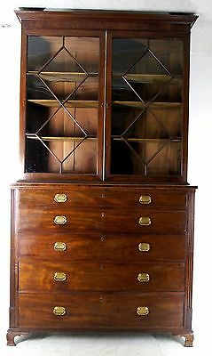 A Very Impressive Georgian Mahogany Secretaire Bookcase