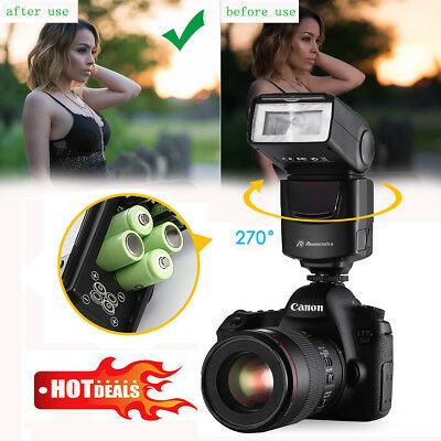 DF-400 Flash Gun Speedlite for Pentax Fujifilm Olympus Canon & Nikon DSLR Camera