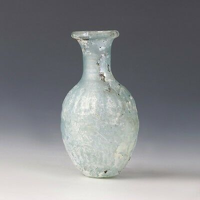 Roman Mold-Blown Glass Bottle