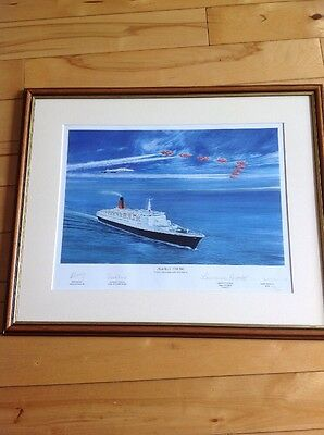 Limited Edition Concorde,QE2 And Red Arrows Signed Print