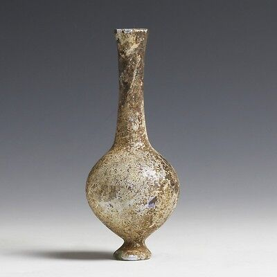 Roman Delicate Glass Flask on Base