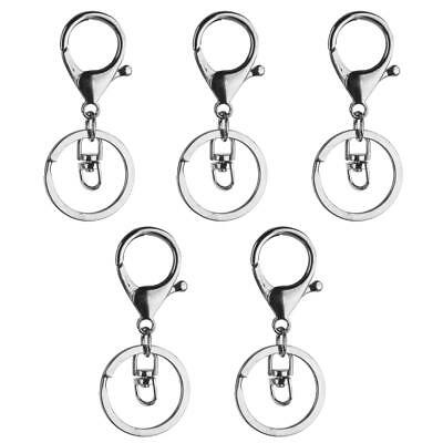 5pcs Swivel Clips Lobster Clasps Trigger Snap Hook Key Ring Charms Findings