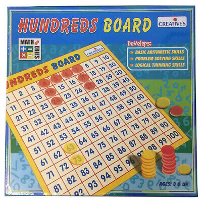 HUNDREDS Counting Sequencing Board EDUCATIONAL Maths Skills GAME Toy Montessori