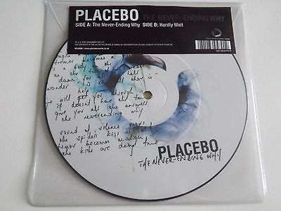 """Placebo The Never Ending Why 7"""" Vinyl Picture Disc New"""