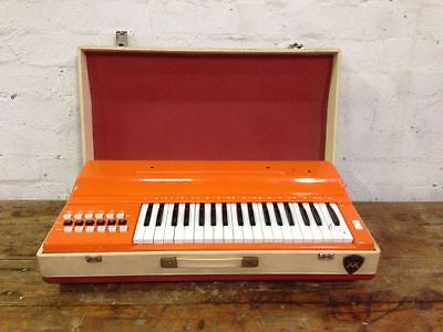 Awesome Vintage Tempo Chord Organ - Keyboard - Bright Orange