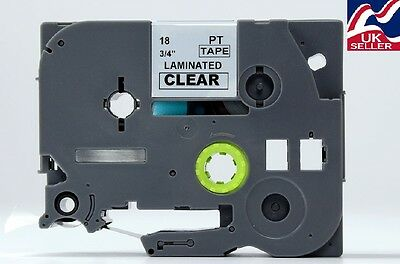 1-30x 18mm TZE S141, TZ S141 tape black/clear for BROTHER P-TOUCH label printers