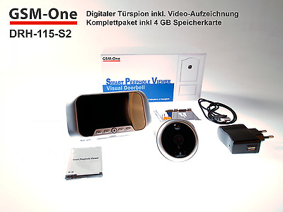 Digitaler Tür-Spion DRH-115-S2 von GSM-One