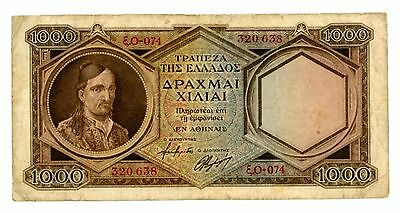 Greece  ... P-180a ... 1000 Drachmai ... ND(1947) ... *F*