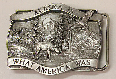 Alaska, What America Used To Be, Belt Buckle, 1981