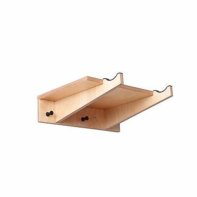Wooden Bike Shelf S - Bicycle Cycling Storage Wall Mount Hook Rack Hanger Stand