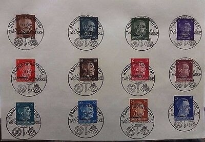 Germany Occupation Of Ukraine 1942 Stamp Day Philatelic Souvenir With 12 Stamps