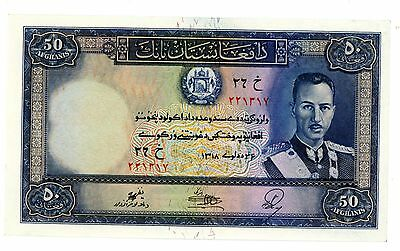 Afghanistan  ... P-25a ... 50 Afghanis ... 1939 ... CH*UNC*