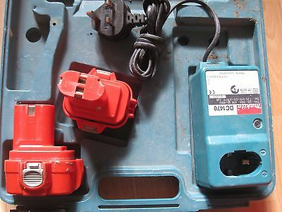 MAKITA   2 x 9.6V BATTERIES + CHARGER AND CASE