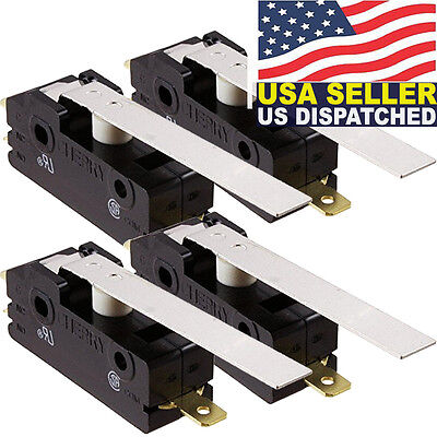 4x CHERRY E13-00H Hinge Lever Snap Action 15A Micro Switch, E1300H 0E13-00H