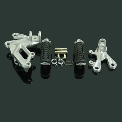Front Rider Foot Pegs Rest Footrest Bracket Set For KAWASAKI ZZR1400 ZX14R 06-14
