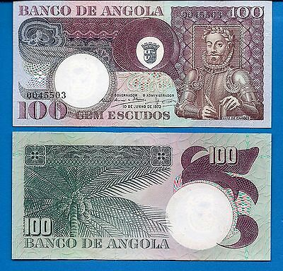 Angola P-106 100 Escudos Year 1973 Uncirculated FREE SHIPPING