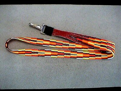 Auth.Native American Indian Fully Beaded Lanyard/ID Holder by Mary Johnson