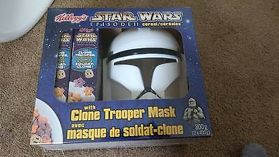 Star Wars Episode II Cereal With Clone Trooper Mask * Rare *