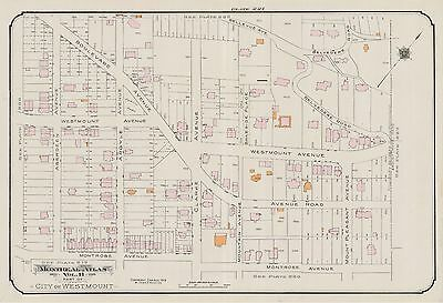 IMPERIAL OIL COMPANY CANADA GOAD COPY ATLAS MAP MONTREAL CHARLES E 1913