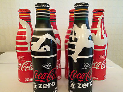 Coca Cola SOUTH AFRICA  - Set of 6 Olympic Bottles - FULL unopened