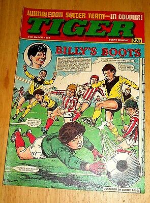 Tiger Comic 24/3/1984 Wimbledon Team Poster & Scream #1 Comic  Full Page Advert