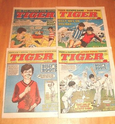 Tiger Comic 1984 All 4 Issues To Make Olympic Modern Pentahlon Free Game