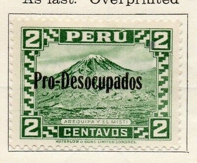 Peru 1932-35 Early Issue Fine Mint Hinged 2c. Optd 148158