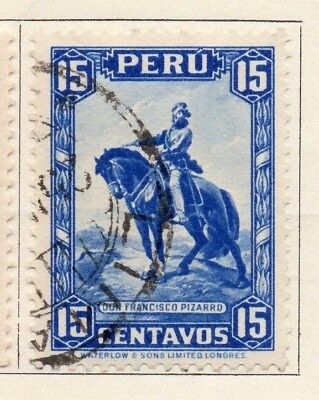 Peru 1934-35 Early Issue Fine Used 15c. 148161