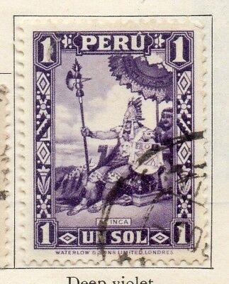 Peru 1934-35 Early Issue Fine Used 1S. 148164