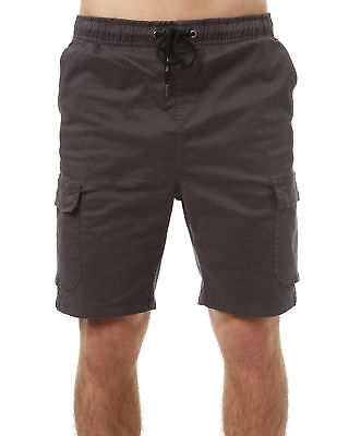 New Swell Men's Napalm Mens Elastic Cargo Short Cotton Elastane Green