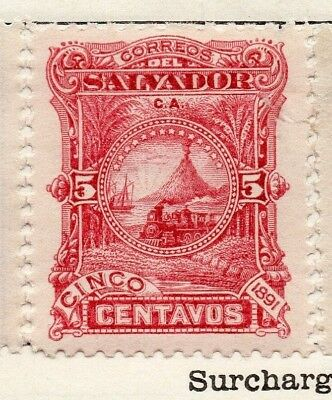 Salvador 1891 Early Issue Fine Mint Hinged 5c. 148179