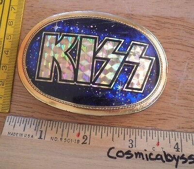 1978 KISS Pacifica Mfg VINTAGE cloisoinne Belt Buckle blue SCARCE!